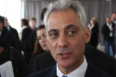"Mayor Rahm Emanuel promised a ""balanced approach"" to mixing community needs with an expanding O'Hare Airport."