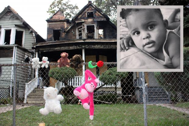 An infant and a woman were killed in an Englewood fire Tuesday, officials said