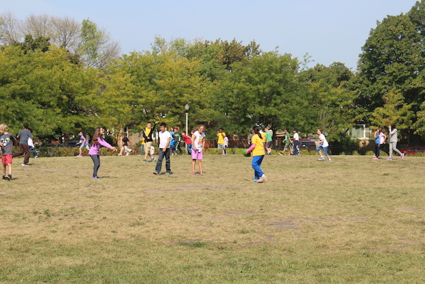 The grant will help pay for a 2,500-square-foot playground at the Portage Park magnet school.