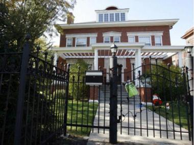 Barack Obama is expected to visit his home in Kenwood on Thursday for the first time in a year.