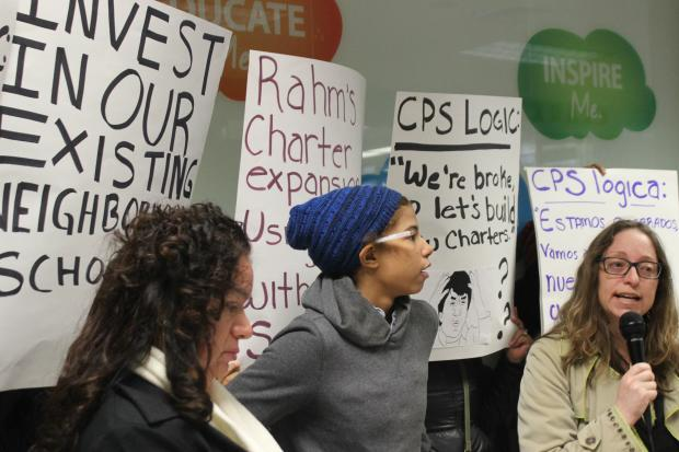 Protestors accused CPS of fudging its numbers when it comes to claims that some schools are overcrowded.