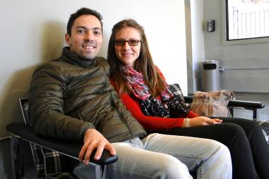 Petru and Irina Sandu stayed at Holiday Jones in Wicker Park for two nights.  Petu Sandu is studying at the University of Iowa, and his wife, Irina, flew in to meet up with her husband for the weekend.