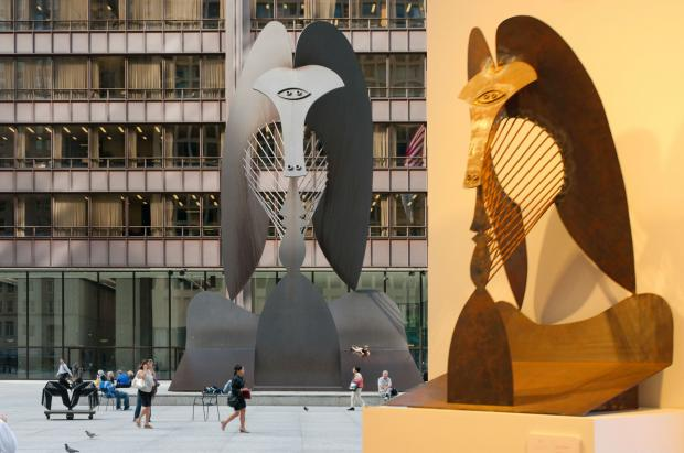 A maquette, or study, created by Picasso in advance of his Daley Plaza sculpture, is on display at Christie's Chicago through Thursday afternoon.
