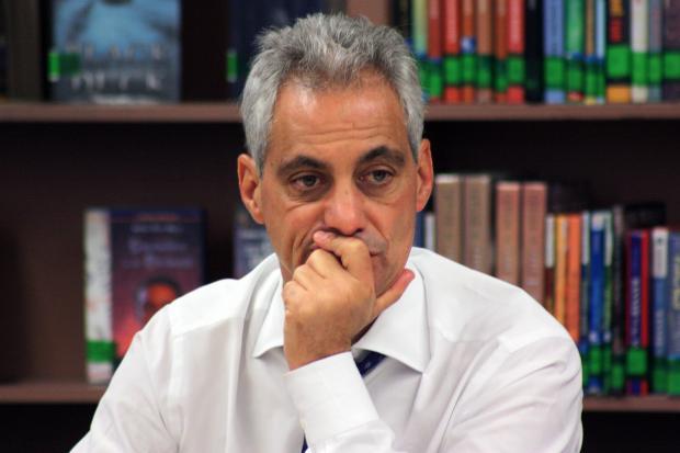 Mayor Rahm Emanuel spoke at a roundtable budget discussion Thursday.