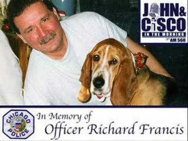 Officer Richard Francis was killed on July 2, 2008 after responding to a disturbance on a bus in Lakeview.