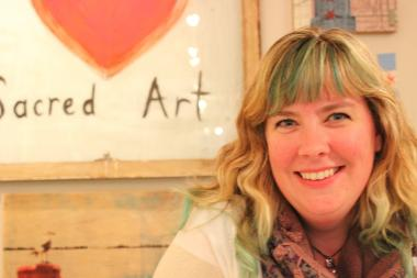 Kate Merena, Sacred Art's most loyal customer, is now the shop's owner.