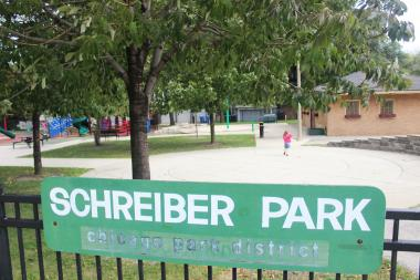 A 17-year-old boy was stabbed Monday during an apparent gang fight at Schreiber Park.