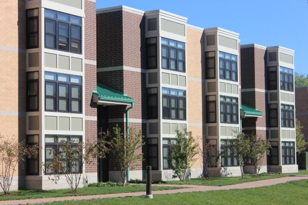 The grand opening for a new, affordable housing complex in Bronzeville was Wednesday, Oct. 9, 2013.