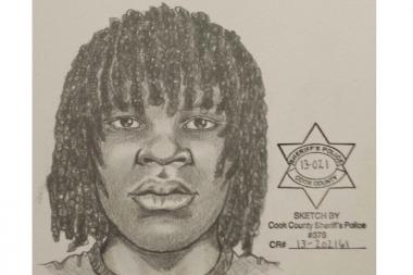 The suspect is described as a slender black man with a dark complexion and medium-length dreadlocks. He is believed to be 16 to 22 years old, 6-foot to 6-foot-1 tall. He had been wearing a black T-shirt, baggy blue jeans, a long white or tan belt with a rectangular buckle, and white gym shoes.  Anyone with information is asked to call police at 312-747-8271.