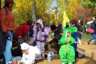 Kids get dressed up for Halloween during a past Spooky Zoo Spectacular event at Lincoln Park Zoo.