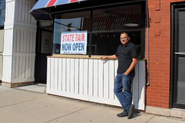 Robert Rosado stands in front of his new restaurant, State Fair, 3152 W. Diversey Ave.