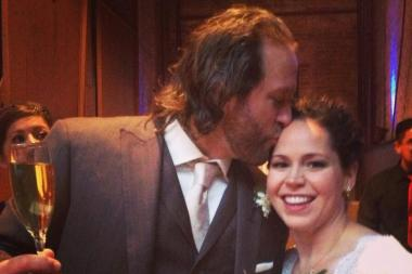 Chef Stephanie Izard and craft beer consultant Gary Valentine got married Sunday at the Bridgeport Art Center.
