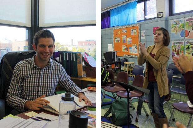 Kim Kays and Evan Trad teach at Humboldt Park's Erie Elementary Charter School