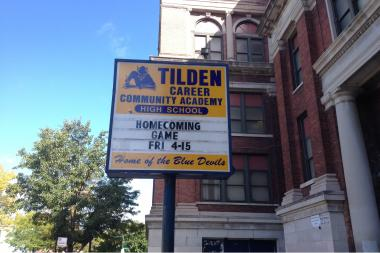 Tilden High School in Canaryville
