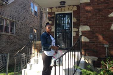 Troi Daniels, 24, fears leaving her daughter and family at home after recent sexual assaults in Washington Heights.