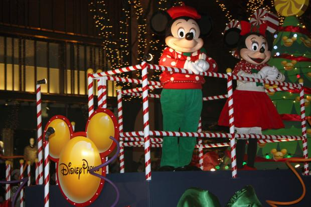 Several floats, marching bands and Disney characters rolled down Michigan Avenue Saturday for the Magnificent Mile Lights Festival.