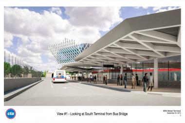 A new $240 million CTA Red Line station at 95th Street should be completed next year, setting the stage for the line to be extended to 130th Street.