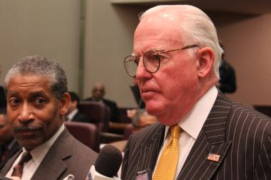 "Ald. Edward Burke introduced an ordinance banning ""petcoke,"" a petroleum-refining residue linked to respiratory problems."