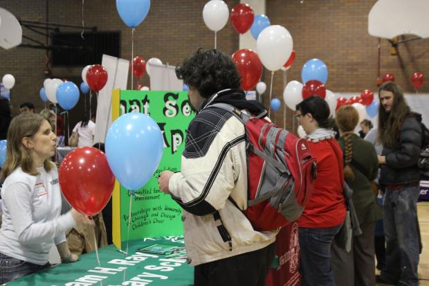 CPS parents hosted a neighborhood school fair Saturday at Roberto Clemente High School.