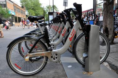 A boomerang served as inspiration for the design of Montreal's Bixi Bikes (and Chicago's Divvy). The boomerang can be seen in the silver portion of the step-through frame on a Bixi Bike, said designer Michel Dallaire.