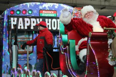 Look for the CTA holiday train at Brown Line stations Wednesday to Saturday.