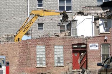 """It's not hard to get a demolition permit,"" East Village community leader Neal McKnight said."