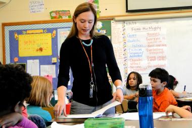 Heather Reed is in her eighth year of teaching at Pritzker School in Wicker Park.