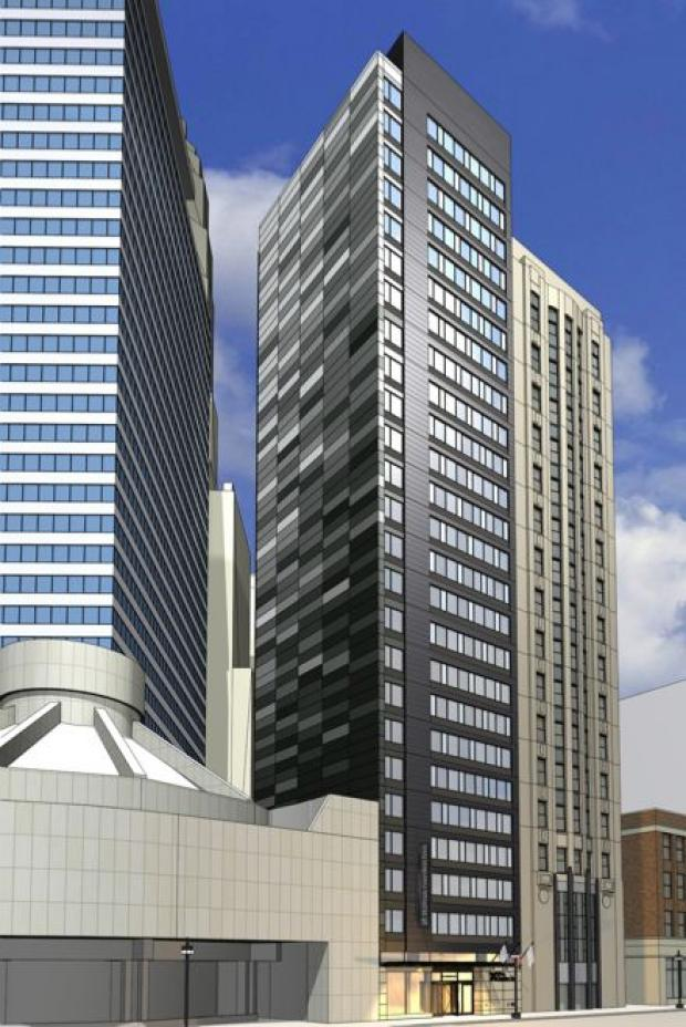 Check out early renderings of the 25-story hotel planned for 66 E. Wacker Pl.