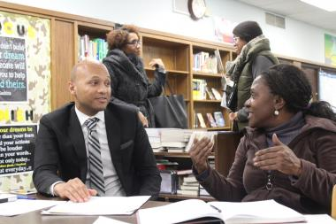 Kenwood Academy Principal Gregory Jones said the school might need to consider capping enrollment in the future unless over crowding at the school is resolved.