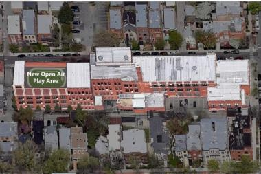 The proposed three-story annex of Lincoln Elementary in Lincoln Park will include 19 additional classrooms and a play space on the roof.