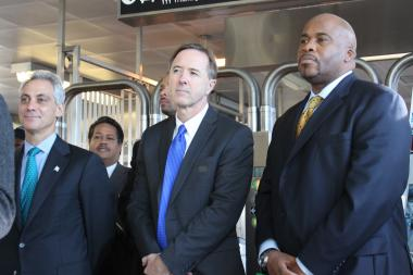 Mayor Rahm Emanuel, CTA President Forrest Claypool and CTA Chairman Terry Peterson said they'll hold Ventra owner Cubic accountable to make the system work.