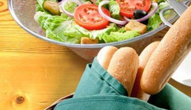 Olive Garden is known for its breadsticks and salads.