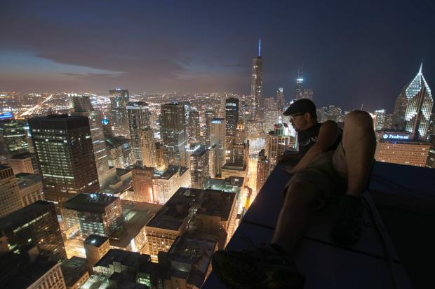 "Bradley Garrett is a University of Oxford researcher and ""urban explorer,"" who describes climbing to the top of Chicago's skyscrapers in his new book ""Explore Everything: Place-Hacking the City."""