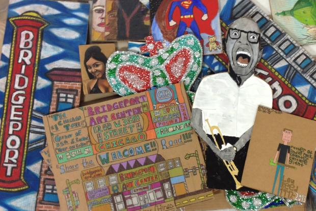 "The annual eclectic ""Cardboard Show"" puts cardboard art on display and up for sale."