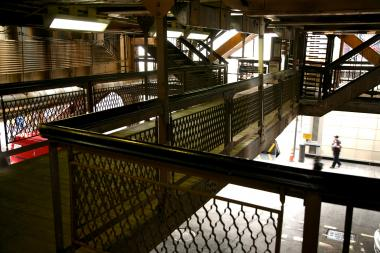 "The Quincy Street ""L"" station, being targeted for a revamp by Mayor Rahm Emanuel."