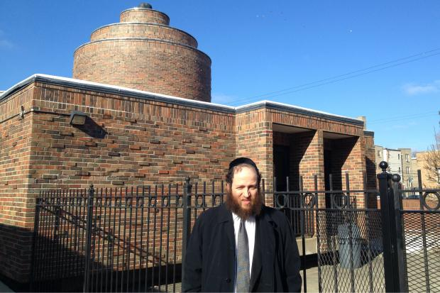 Baruch Hertz, the rabbi at Congregation Bnei Ruven, walks a few times per month the roughly 5.5-mile distance from Lakeview to West Rogers Park.