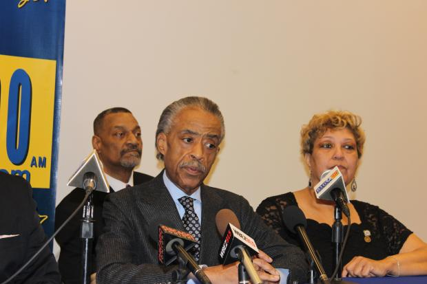 The Rev. Al Sharpton met Nov. 19, 2013 at Chicago State University with more than 70 community leaders to discuss how to combat gun violence in Chicago.