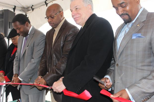 A ribbon-cutting ceremony took place Thursday for phase two of The Grant at Woodlawn Park at 6129 S. Cottage Grove Ave.