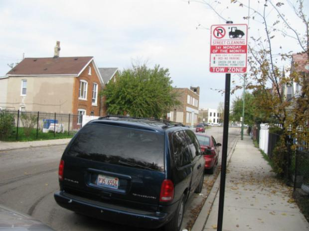 Parking tickets still get written for street cleaning violations despite inoperable warning signs.