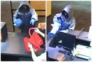 Surveillance footage captured a man robbing the TCF Bank branch at 4930 N. Milwaukee Ave.
