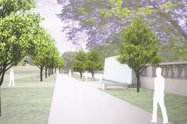 Check out renderings for the planned upgrades in Grant Park near the Logan Civil War Monument.