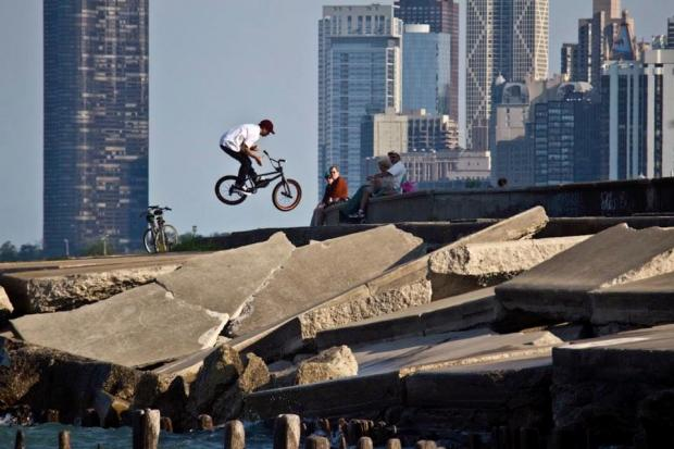 Professional BMX biker Brian Kachinsky said there's a dearth of legal places where Chicago's BMX enthusiasts can ride.