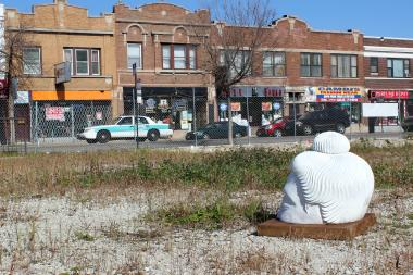 The vacant lot at Central and Lawrence avenues was targeted by a recent art installation as a place where people feel unsafe.