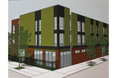 A rendering for West Humboldt Place, a new housing unit planned for low-income families affected by HIV/AIDS and other medical disabilities.
