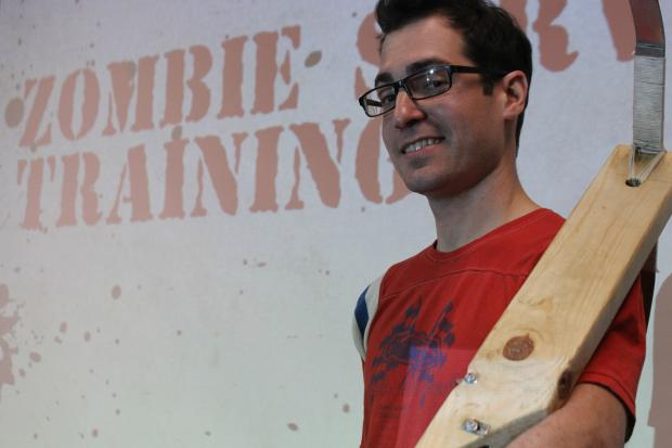 Zombie-enthusiasts gathered at the McKinley Park library Saturday for training on how to survive the zombie apocalypse.