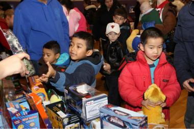 "An estimated 5,000 kids will pick up toys at the 12th Ward ""Toys for Kids"" event."