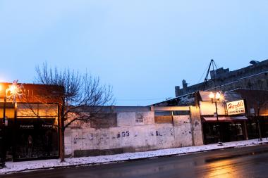 Cheesie's Pub and Grub and Whiskey Business are planned for 1365 N. Milwaukee Ave.  The two eateries will be located between a Harold's Fried Chicken and boutique Futurgarb.