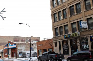 If a zoning change is granted, a developer plans to purchase several properties between 1643-57 N. Milwaukee Ave. to build apartments and retail storefronts.
