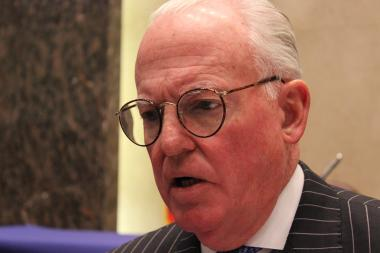 Ald. Edward Burke (14th) made a joke that went awry during a debate over a $38.75 million settlement involving red-light camera tickets.