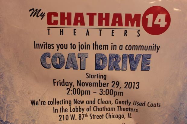 The Chatham 14 Theaters at 210 W. 87th St. is sponsoring its first annual winter coat drive.